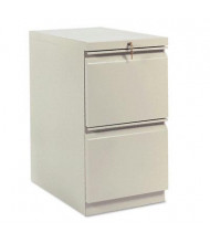 HON Brigade 33823RL 2-Drawer File/File Radius Pull Mobile Pedestal, Putty