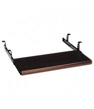 "HON 17"" Track Slide-Away Laminate Keyboard Platform, Mahogany"