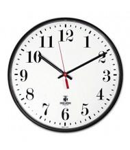 "Chicago Lighthouse 12.8"" Slimline Quartz Wall Clock, Black"