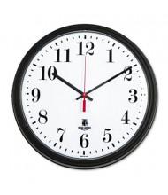 "Chicago Lighthouse 13.8"" Contract Quartz Wall Clock, Black"
