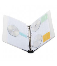 Innovera 90-Capacity CD & DVD Storage Binder, Clear/Midnight Blue