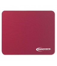 """Innovera 9"""" x 7-1/2"""" Natural Rubber Mouse Pad, Burgundy"""