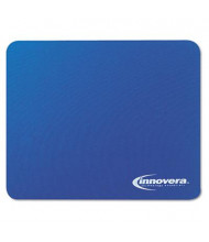 """Innovera 9"""" x 7-1/2"""" Natural Rubber Mouse Pad, Blue"""