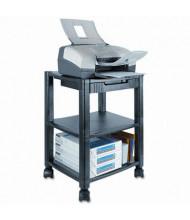 Kantek 3-Shelf Deskside Printer Cart, Black