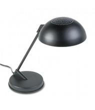 """Ledu 16.3"""" H Vented Dome Incandescent Desk Lamp, Black"""
