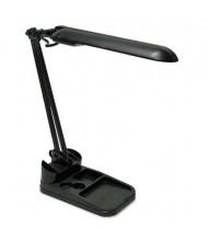 "Ledu 17"" H Fluorescent Flexible Organizer Lamp, Black"