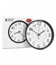 "Howard Miller 14"" Alton Auto Daylight Savings Wall Clock, Black"