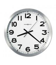 """Howard Miller 15.8"""" Spokane Wall Clock, Silver"""
