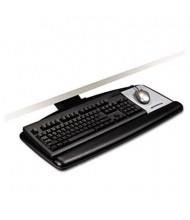 "3M 17-3/4"" Track Adjustable Keyboard Tray with Standard Platform, Black"