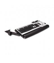 """3M 17"""" Track Adjustable Under-Desk Keyboard Drawer, Black/Charcoal Gray"""