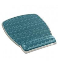"3M 8-3/5"" x 6-4/5"" Fun Design Clear Gel Mouse Pad Wrist Rest, Green"