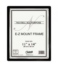 "NuDell EZ Mount II 11"" W x 14"" H Document Frame, Black/Silver"
