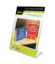 "NuDell 4"" W x 6"" H Slanted, Stand-Up Sign Holder"