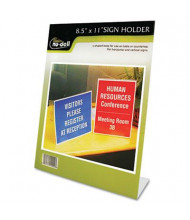 "NuDell 8.5"" W x 11"" H Slanted Stand-Up Sign Holder"
