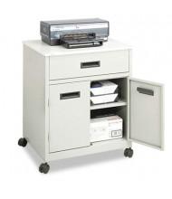 Safco 2-Shelf /Drawer Machine Cart, Gray