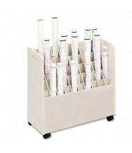Safco Laminate 50-Compartment Mobile Roll File Cart