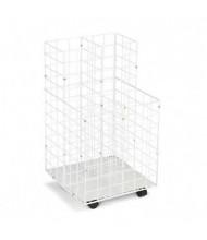 Safco Wire 4-Compartment Roll File Cart