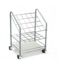 Safco Wire 20-Compartment Roll File Cart