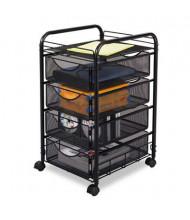Safco Onyx 4-Drawer Mesh Mobile File Cart