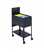 "Safco Extra-Deep 14"" W Locking Mobile Tub File Cart, Black"
