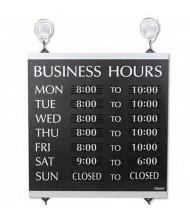 "Headline Century 13"" W x 14"" H Business Hours Sign"