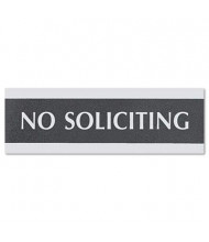 """Headline Century 9"""" W x 3"""" H No Soliciting Office Sign"""