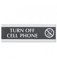 "Headline Century 9"" W x 3"" H Turn Off Cell Phone Office Sign"