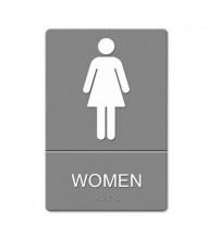 """Headline 6"""" W x 9"""" H Women Restroom ADA Sign"""