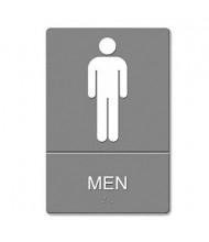 """Headline 6"""" W x 9"""" H Men Restroom ADA Sign"""