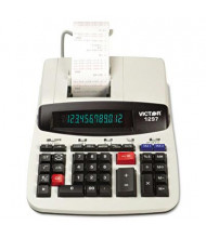 Victor 1297 Two-Color Commercial 12-Digit Printing Calculator