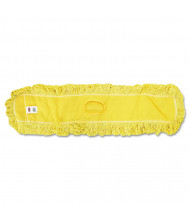 """Rubbermaid 48"""" L Looped-End Dust Mop, Yellow"""