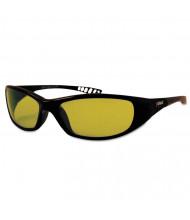 Jackson Safety V40 HellRaiser Safety Glasses, Black Frame, Amber Lens