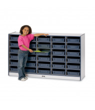 Jonti-Craft Rainbow Accents 30 Paper-Tray Mobile Classroom Storage (Shown in Navy)