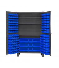 Durham Steel Bin Storage Cabinets with Legs, Hook-On Bins