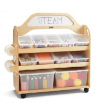 Jonti-Craft STEM Double-Sided 11 Cubby Tray Classroom Storage