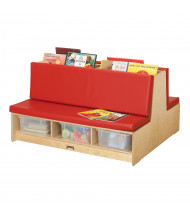 Jonti-Craft Read-a-Round Couch Classroom Storage (Shown in Red)