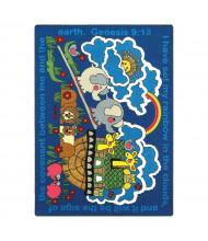 Joy Carpets Rainbow Promise Rectangle Classroom Rug