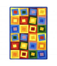 Joy Carpets Off Balance Classroom Rug, Brights
