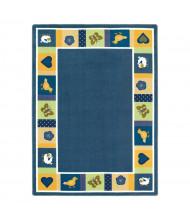 Joy Carpets Baby Blues Classroom Rug, Bold