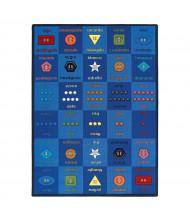 Joy Carpets Button Button Rectangle Classroom Rug