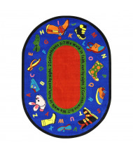 Joy Carpets Walk In Faith Classroom Rug (Shown in Oval)