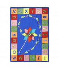 Joy Carpets Alphabet Pinwheel Classroom Rug, Primary