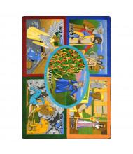 Joy Carpets Bible Stories Rectangle Classroom Rug