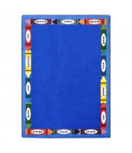 Joy Carpets Bilingual Colors Rectangle Classroom Rug