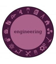 Joy Carpets STEM Classroom Rug, Engineering (Shown in Round)
