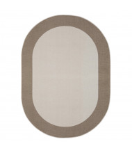 Joy Carpets Easy Going Classroom Rug, Brown (Shown in Oval)