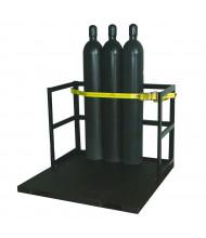Justrite 21-Cylinder Pallet Forklift Attachment 6000 lb Load