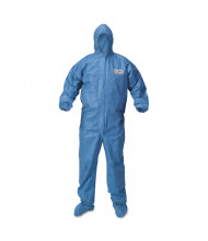 KleenGuard A60 Blood and Chemical Splash Protection Coveralls, 3X-Large, Blue, 20/Pack