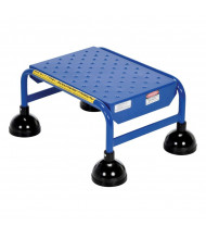 "Vestil 9.5"" H Perforated 1-Step Spring Loaded Ladder (Shown in Blue)"