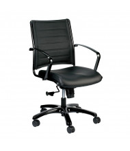 Eurotech Europa LE222TNM Leather Mid-Back Executive Office Chair